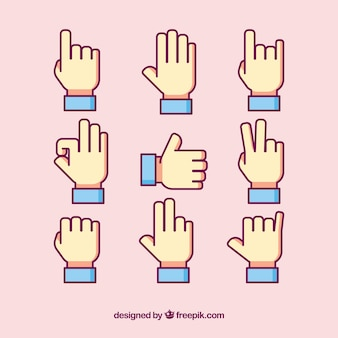 Pack of sign language icons