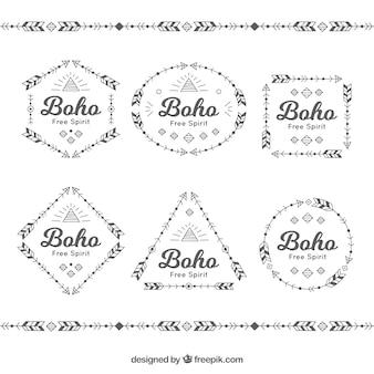 Упаковка из шести boho значков
