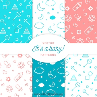Pack of six creative baby patterns