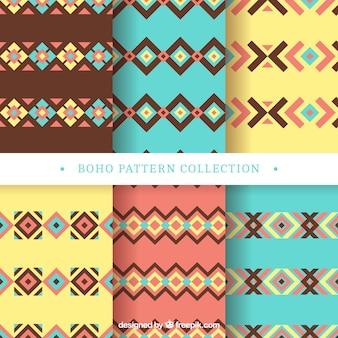 보헤미안 스타일의 6 가지 플랫 패턴 팩