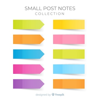 Pack of small sticky notes in realistic style