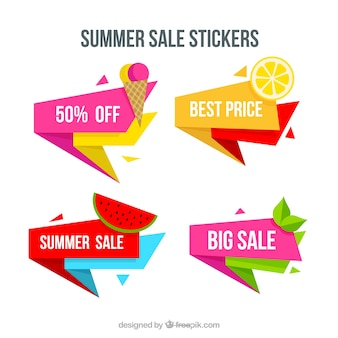 Pack of summer sale stickers
