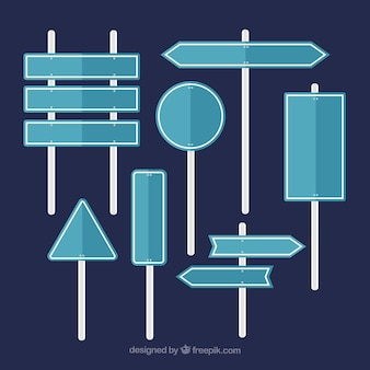 フラットデザインの交通標識のパック
