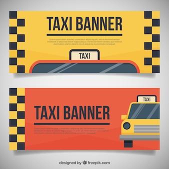 2かわいいタクシーバナーのパック