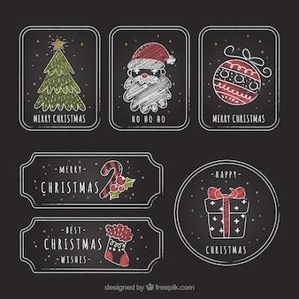 ビンテージクリスマスステッカーのパック