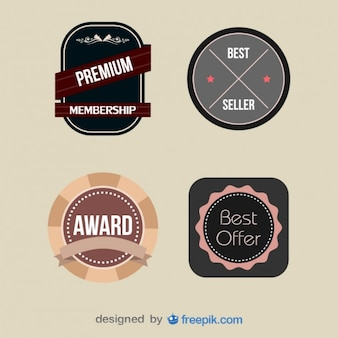 Pack of Vintage Premium Member Labels
