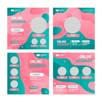 웨비나 소셜 미디어 게시물 팩