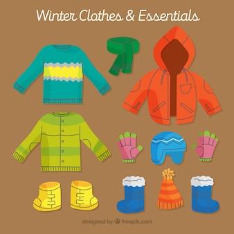 子供のための冬の服のパック
