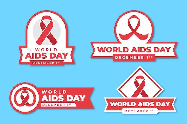 世界エイズデーバッジのパック