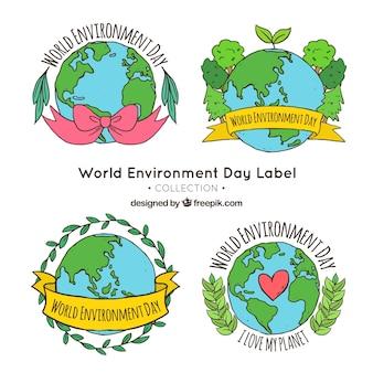 世界環境デーのステッカー