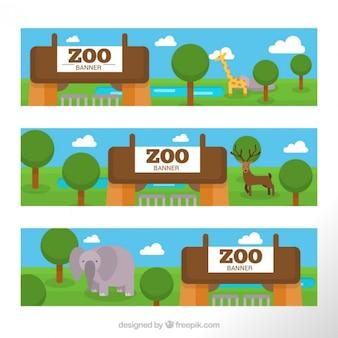 動物園のバナーのパック