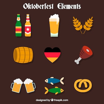 Pack of oktoberfest party complements