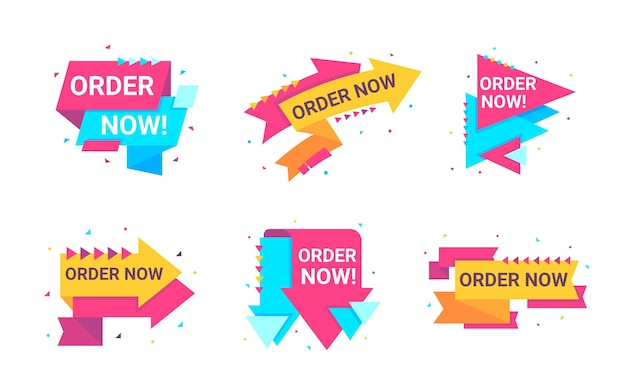 Pack of order now banner