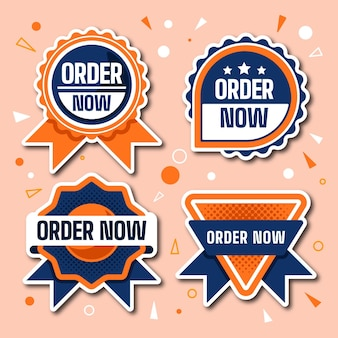 Pack of order now stickers