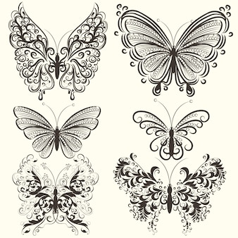 Pack of ornamental butterflies