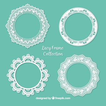 Pack of ornamental lace frames