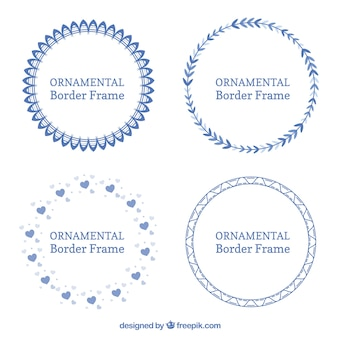 Pack of ornamental round frames