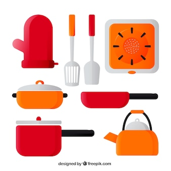Pack of pans and other cooking utensils