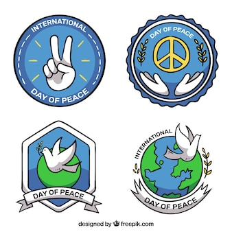 Pack of peace day stickers