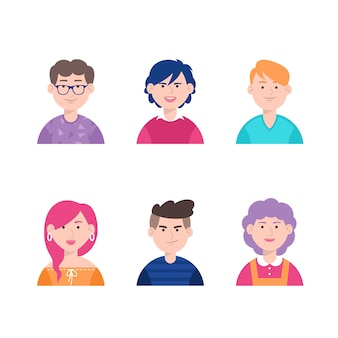 Pack of people avatars