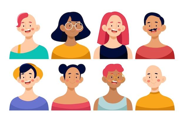 Pack of people avatars
