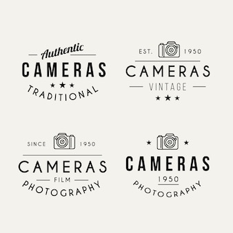 Pack of photography logos in vintage style