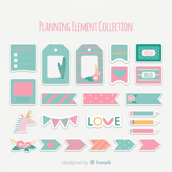Pack of planning elements