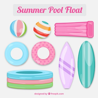 Pack of pool floats