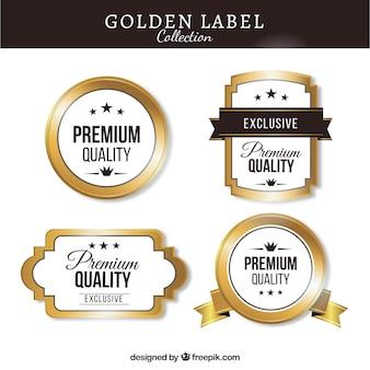 Pack of premium vintage golden stickers