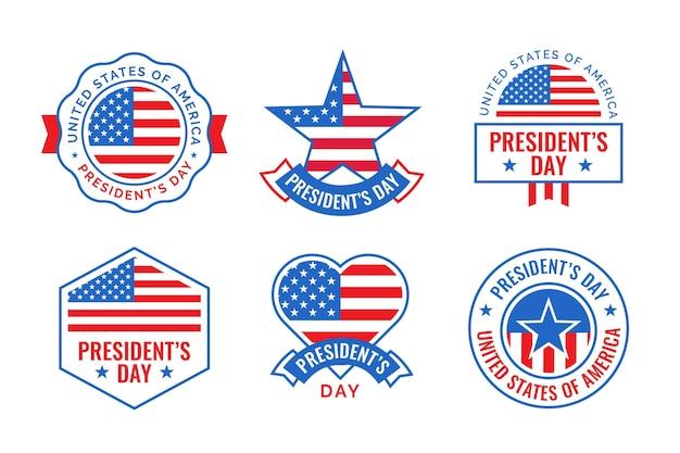 Confezione di badge del giorno del presidente