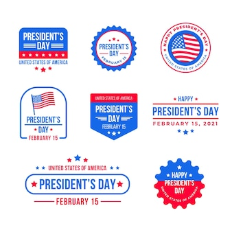 Pack of president's day event badges