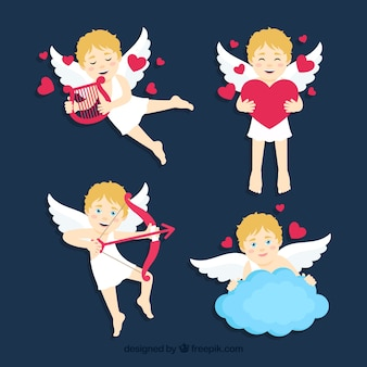 Pack of pretty cupid characters