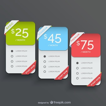 Pack of price banners