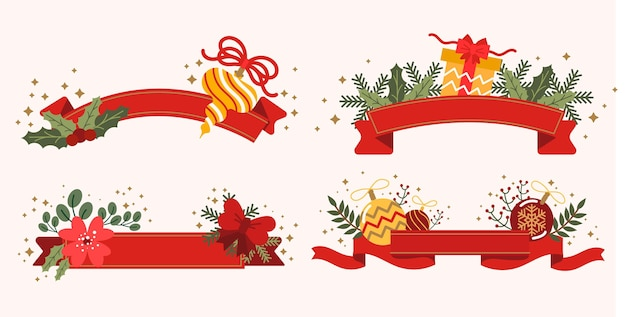 Pack of red christmas ribbons