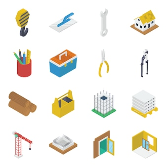 Pack of repairing tools icon