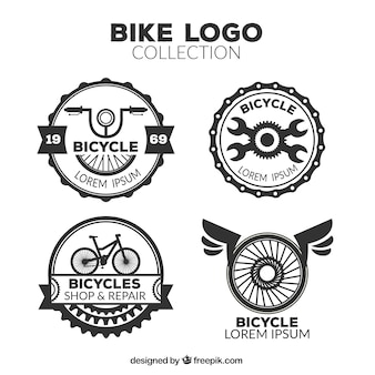 Pack of retro bicycle logos