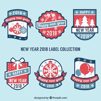 Pack of retro christmas stickers