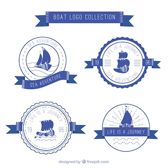 Pack of round boat logos