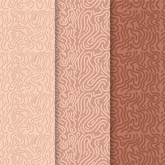 Pack of rounded lines patterns