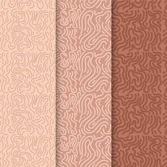 Confezione di modelli di linee arrotondate