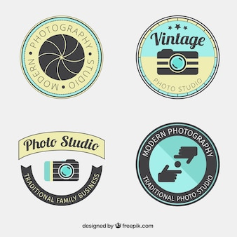 Pack of rounded photography labels