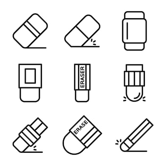 Pack of rubber line icons