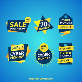 Pack of sale stickers cyber monday