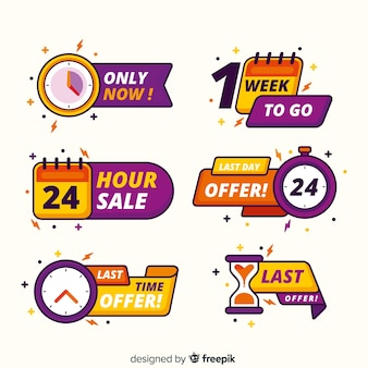 Pack of sales countdown banner