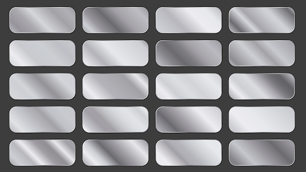 Pack of silver gradient panels
