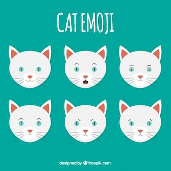 Confezione da sei gatto emoji