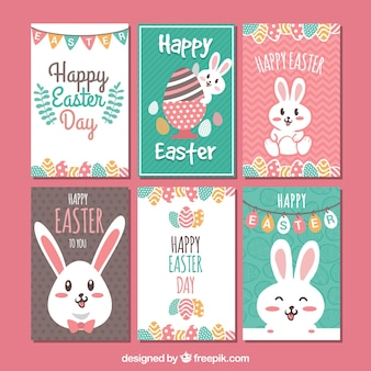 Pack of six easter cards