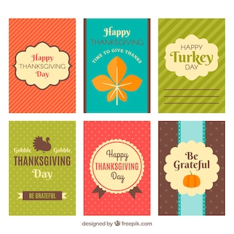 Pack of six thanksgiving cards