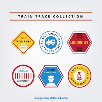 Pack of six train logos with great designs