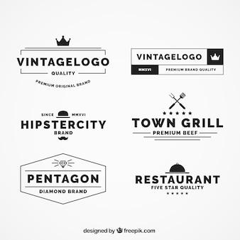 Pack of six vintage logos